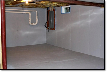 2 coat application of Hydro-Seal 75 to floors and walls plus patching of snap tie holes and hairline cracks in floor