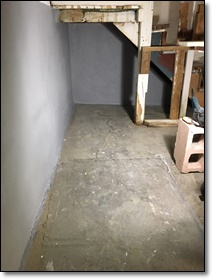 Basement Floor and side wall in Gray Hydro-Seal 75