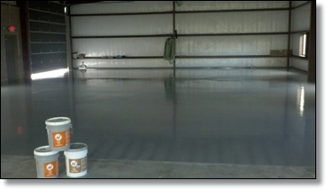 NI-21 Dark Gray Applied as finish Coat to machine shop floor