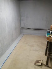 Basement waterproofing using HydroSeal 75